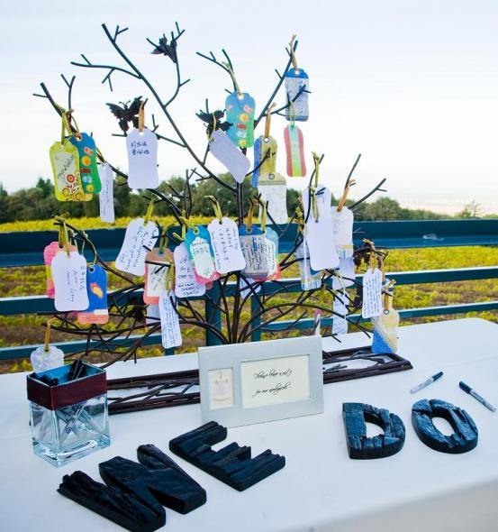 Guestbook or no guestbook. That is the question! :  wedding guestbook ceremony reception creative budget friendly fun 4516.Guestbook Tree.JPG