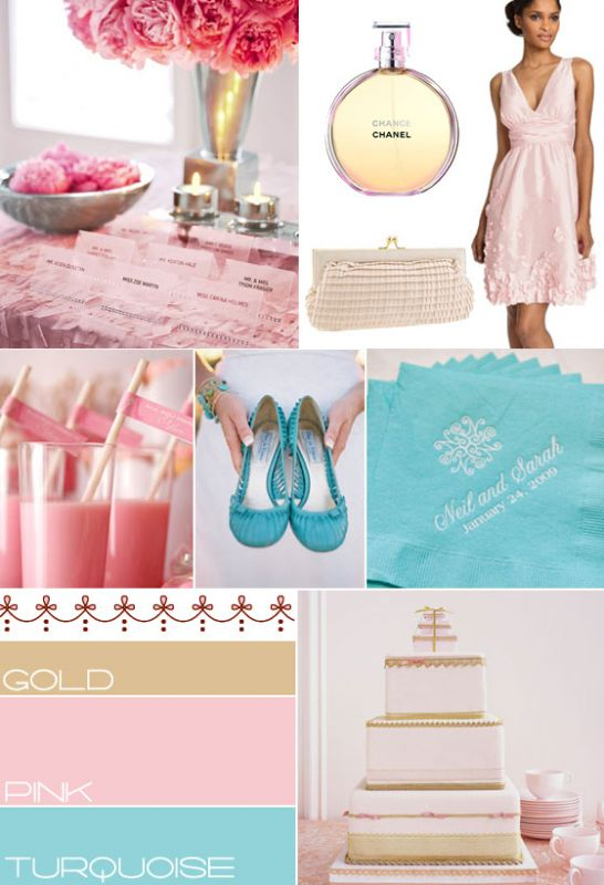 My Colors Are Blush Pink Antique Gold And Turquoise