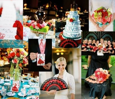 Spanish Flower Wedding Theme