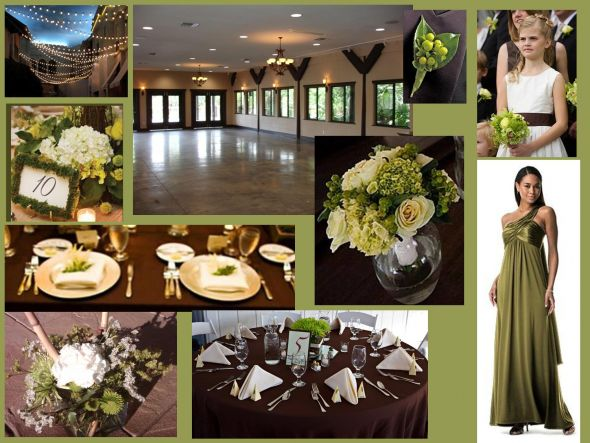 Colors Inspiration need pics Chocolate Olive Green Purple wedding