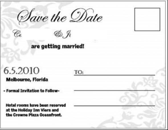Vistaprint Postcard Engagement Pictures Save the Dates wedding save the