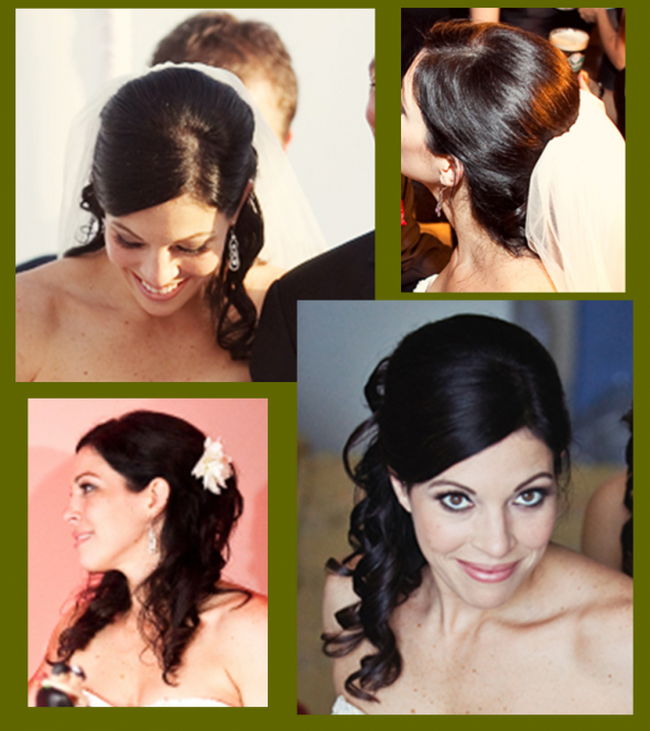Side Swept Wedding Hair: Dili's Blog: Wedding Canopy This Bride And Groom Were Not