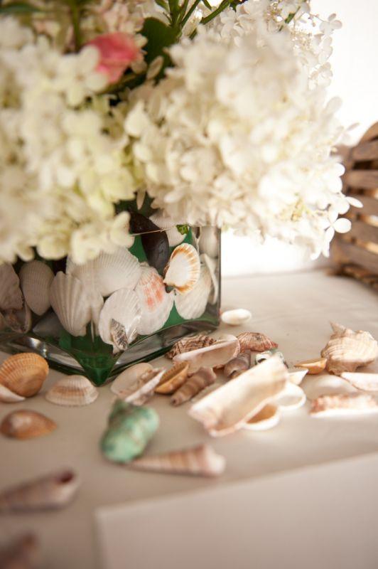 White hydrangea centerpieces weddingbee