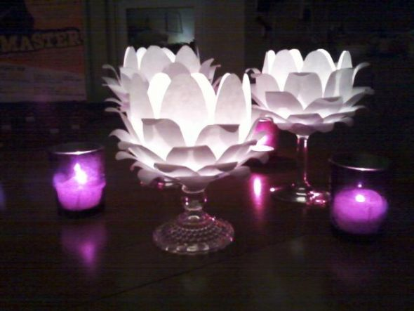 Lotus flower centerpieces