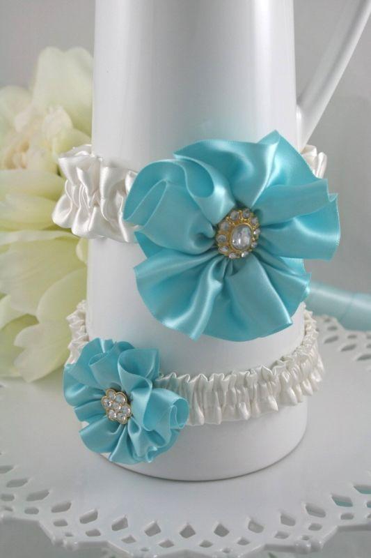 20 Garter Set For Sale wedding garter garter toss tiffany blue ivory