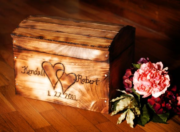 Rustic cardbox ideas wedding cardbox rustic fall Rustic Wood Wedding