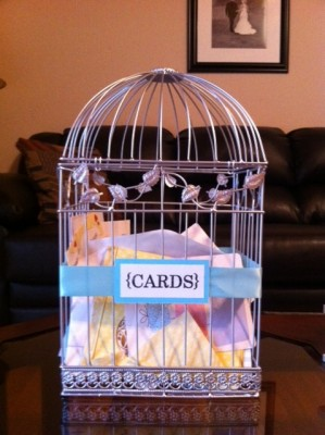For Sale: Silver Birdcage Card Holder — The Knot