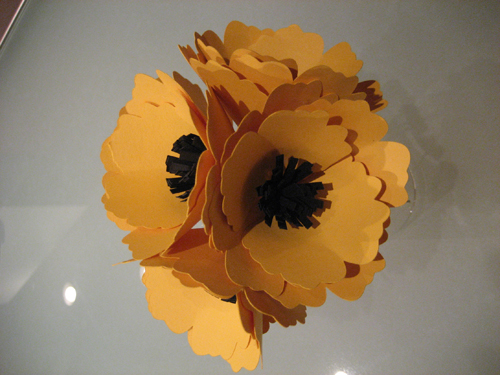 how to make paper flowers wedding. 35 Yellow Paper Flowers with