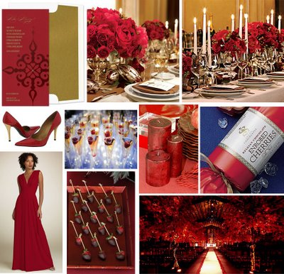 Romantic Wedding red flowers what other colors wedding 11 5 WW Red