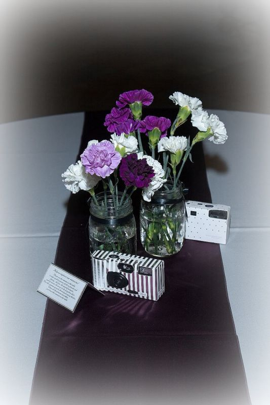 Pictures of our Reception purple and grey wedding purple grey reception