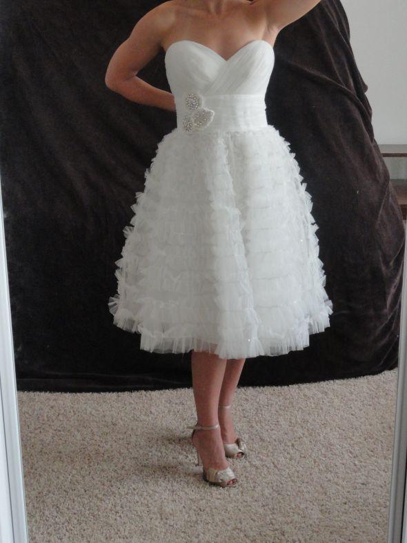 Short Wedding Dress wedding wedding dress gown bridal pink DSC01687