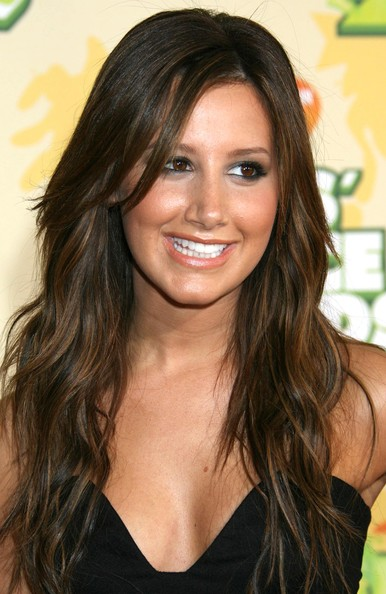 Dark Brown Hair And Red Highlights. style that features. Long