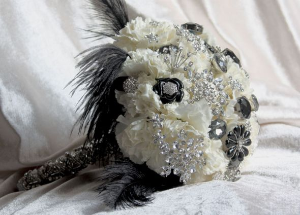 Need bridal bouquet ideas. : wedding bouquets Black And White Jewel Bouquet