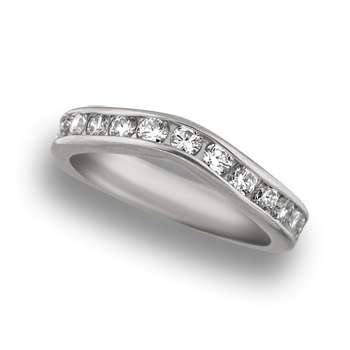 platinum engagement ring with white gold wedding band