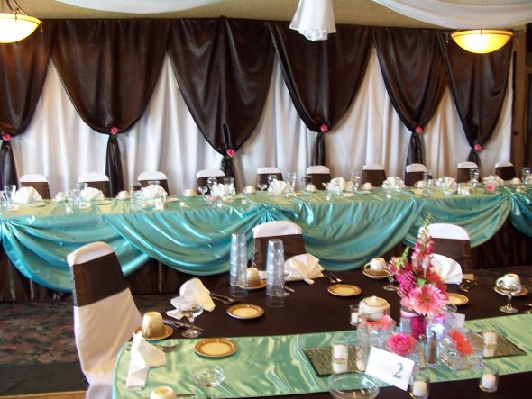 tiffany weddingitems4salecom Chocolate Brown Backdrop Linens wedding
