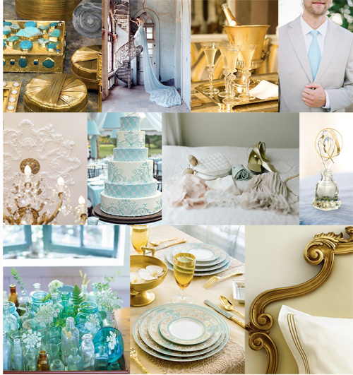 Sky blue nwr chit chat project wedding forums for Turquoise gold wedding theme