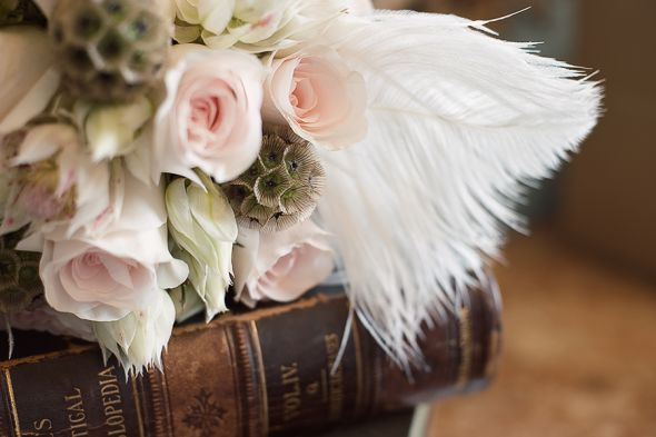 Show us your feather (flower) bouquets! :  wedding feather bouquets feather flowers Feather Flower Bouquet