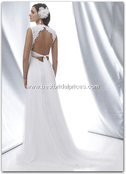 the greek goddess style dresses for the bride wedding Wtoomiriam Back