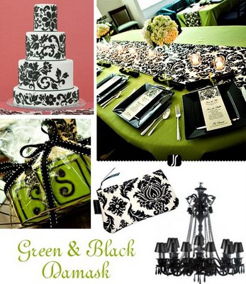 wedding colors 11 13 Green Black Damask Copy 2 years ago