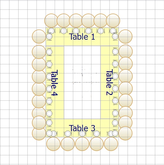 wedding seating Table Layout Idea 1 year ago