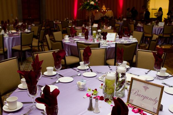 Red and Purple Reception Decor wedding gold pink purple red flowers diy