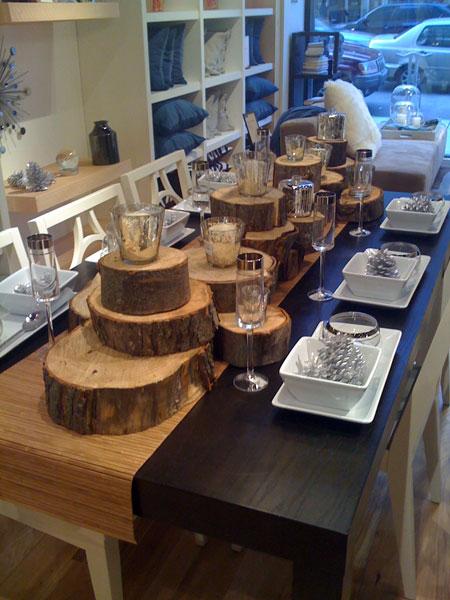 Tree trunks weddingbee - Tree trunk table decorations ...