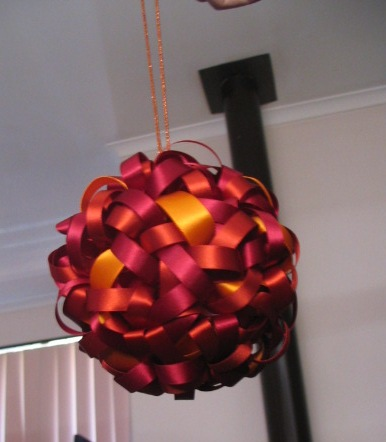 Ribbon Pomanders wedding ribbon pomander diy aisle decor Pomander