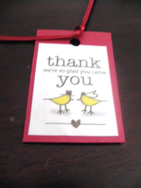 Thank You Wedding Gift Template : Favor Tags our Thank You Weddingbee Photo Gallery