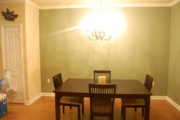 Just painted an accent wall(s) in our apartment!!! Take a look see! :)