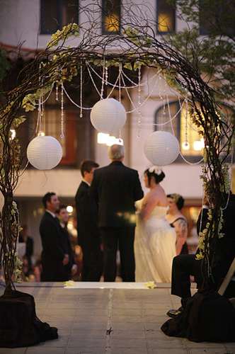 do it yourself wedding arbor