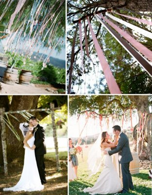 Another option is ribbons arch wedding arch Tree2