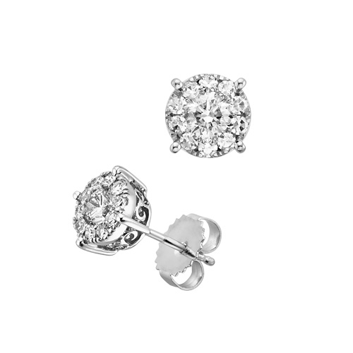 AMAZING real diamond earrings for sale...BEST DEAL YOU WILL FIND ANYWHERE! $550 :  wedding ceremony diamond dress earrings engagement ivory jewelry ring silver studs vintage white white gold 1555622.xl