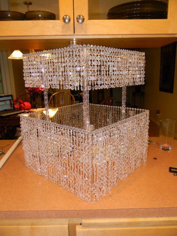 My DIY crystal cake standyippee wedding Cake Stand 2