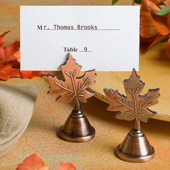 Fall Decorations wedding fall brown orange yellow Leaf Fall Place Card