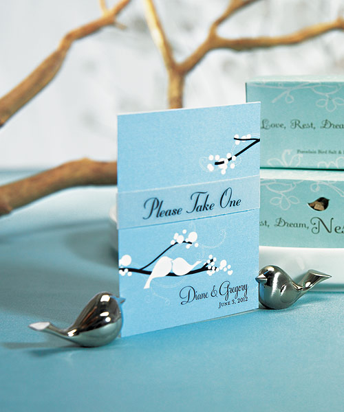 Lovebirds place card holders! : wedding Love Bird Place Card Holder 2