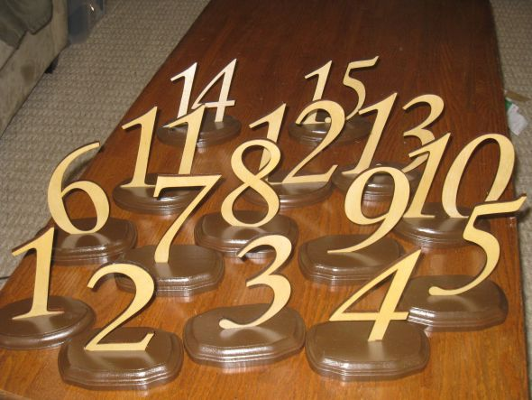I have wooden table numbers my father made for my wedding in September 2010