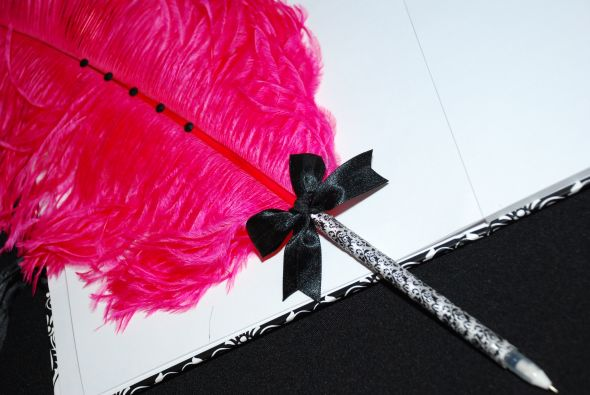 Black And Hot Pink Wedding Dress. Black and Pink wedding items
