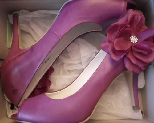 DIY silk flower shoes :  wedding diy shoes flower Flower Shoes