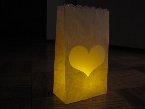 personal paper bag luminaries