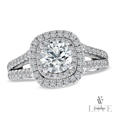 Recently I fell in love with the new Vera Wang Engagement rings at zalescom