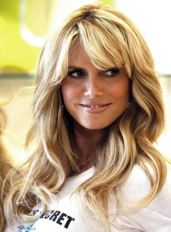 heidi klum bob with bangs. go with side-swept angs