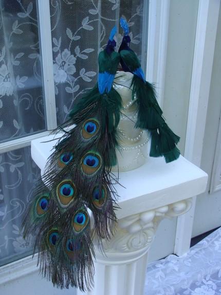 peacock art deco wedding cake