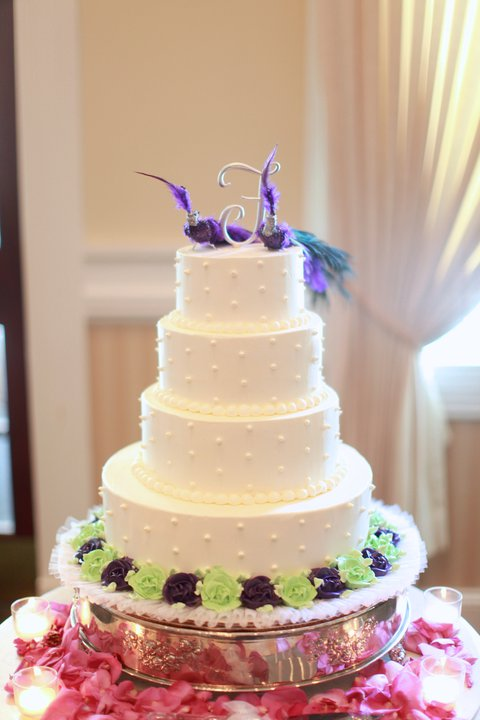 Inspiration Purple and Green Wedding Please post pics of Cake