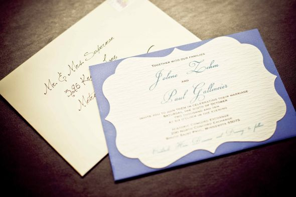 Blue, White and Teal Invites