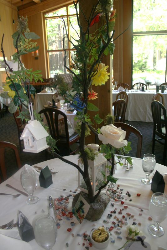 Gorgeous Garden Bird House Manzanita Centerpieces wedding manzanita flower