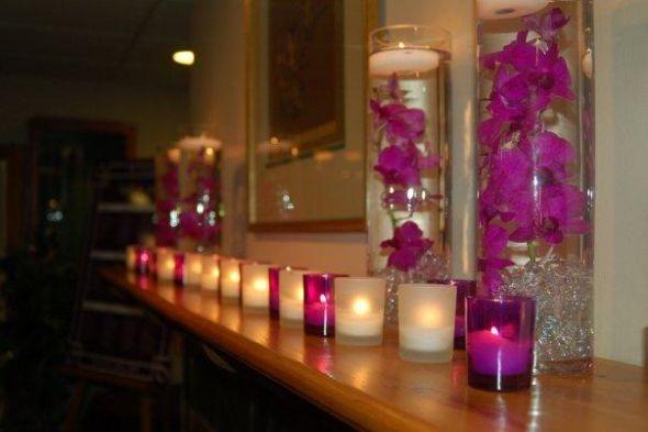 My Purple Centerpieces