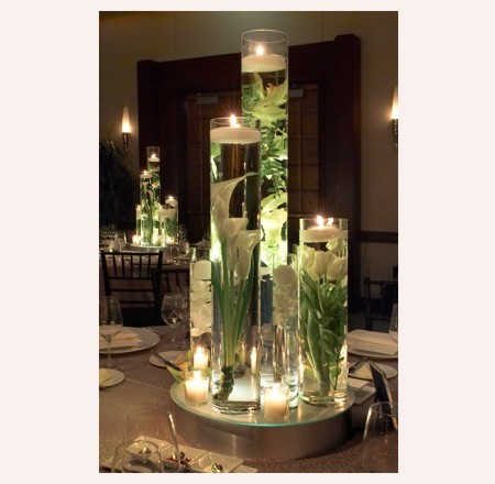 wedding gladiolus gladioli centerpiece submerge flowers Sumberged Beautiful