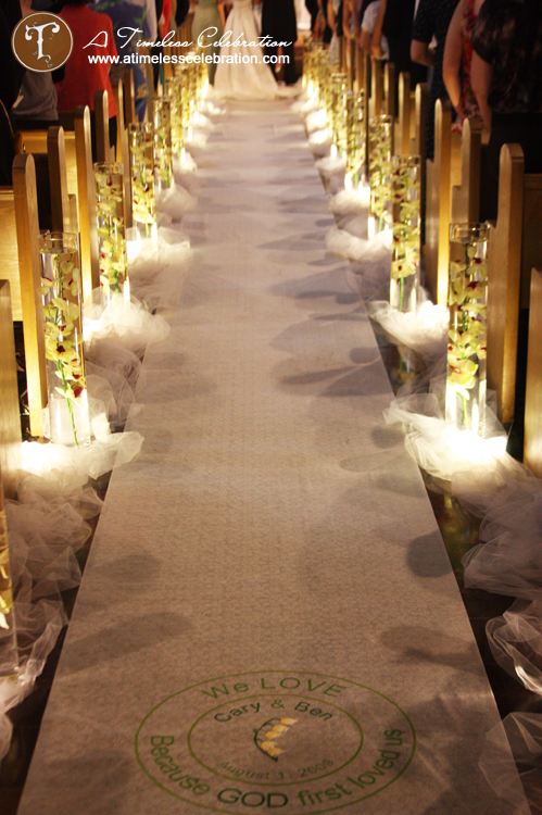 Wedding ceremony church aisle decorations : Wedding aisle decorations romantic decoration