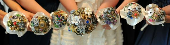 Brooch Bouquets - Bride & Bride