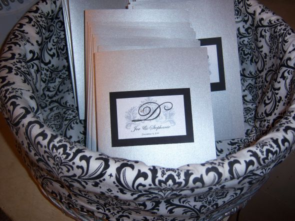 My DIY Ceremony Programs wedding programs silver black cardstock white